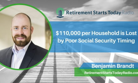 $110,000 per Household is Lost by Poor Social Security Timing, Ep # 95